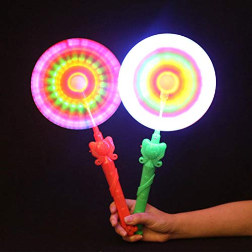 Gbell LED Flashing Music Windmills, Light Up and Rainbow Spinning Windmill Toy for Kids Boys Girls,1Pcs Random Color (12' Wind Spinner Spinners)