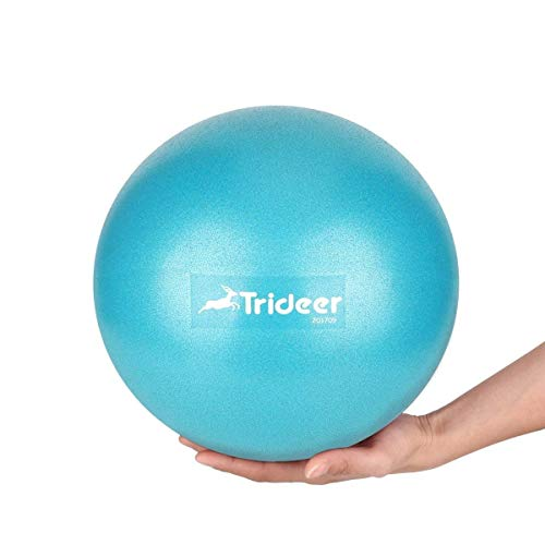 Trideer Pilates Ball, Barre Ball, Mini Exercise Ball, 9 Inch Small Bender Ball, Pilates, Yoga, Core Training and Physical Therapy, Improves Balance, Core Strength & Posture (Turkis (23cm)) by Trideer