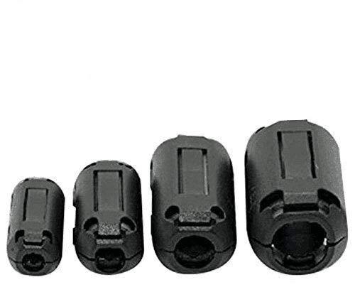 Ferrite Ring Core Black RFI EMI Noise Suppressor Cable Clip-20Pcs Bujingyun