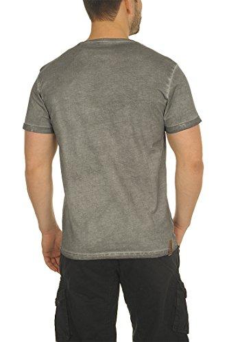 100 Manga shirt Camiseta Tinny V Corta Hombre Mid Con Grey Algodón T Para solid De 2842 Básica neck wIq4xpnRRO