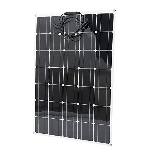 Aleseaer Panel Solar monocristalino - Cargador con Conectores MC4 ...
