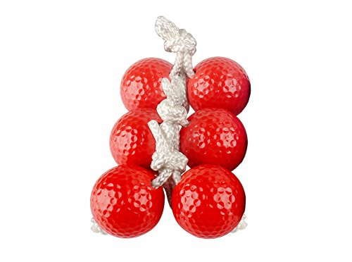 Double Ladder Ball (SUNFUNG Ladder Toss Ball Replacement Ladder Balls Bolos Bolas Ladder Golf With Real Golf Balls 3 Pack Of Red)