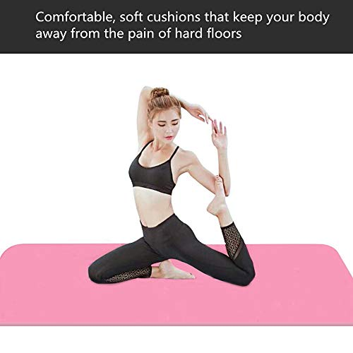 Thick Yoga Mat For Fitness And Exercise Mats, Comfortable Foam Yoga Mat For Sports, With Easy-to-tight Yoga Mat Carrying…