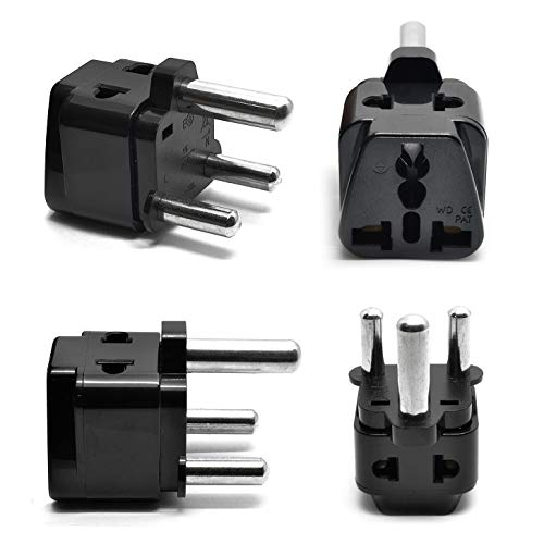 South Africa, Botswana Power Plug Adapter by OREI, 2 in 1 USA Grounded Connection - Universal Socket - Type M - 4 Pack - Perfect for Cell Phones, Laptops, Chargers & More (Used Cell Phones For Sale In South Africa)