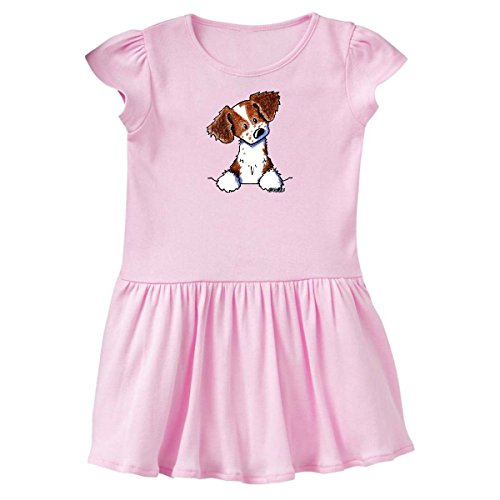 inktastic Pocket Brittany Spaniel Infant Dress 18 Months Pink - KiniArt 3d91 (Brittany Cocker Spaniel)
