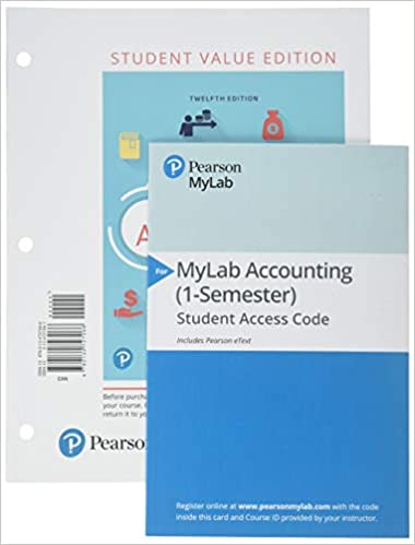 Financial Accounting Student Value Edition Plus Mylab Accounting With Pearson Etext Access Card Package 9780134833156 Thomas C Tietz Wendy Harrison Walter Books Amazon Com