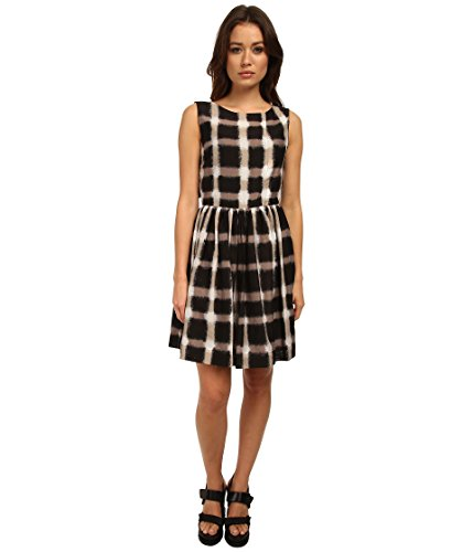 Marc by Marc Jacobs Women's Blurred Gingham Voile Dress, Black Multi, 2 Silk Voile Dress