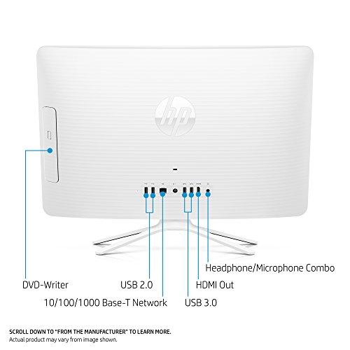HP 19-inch All-in-One Computer, Intel Celeron J3355, 4GB RAM, 1TB hard drive, Windows 10 (20-c210, White) by HP (Image #2)