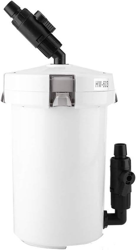 HW-602/603 / HW-602B / HW-603B Filtro de Acuario para Agua Dulce Agua de mar Acuario Tanque de Algas Acuario Tanque de Peces Accesorios para el Filtro del Acuario(HW-603B,220V)