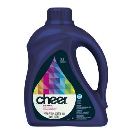 Pack of 5 - Cheer HE Liquid Laundry Detergent , 100oz , 64 loads