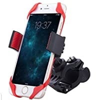 Bike Mount, Smiling Shark Universal Cell Phone Bicycle Rack Handlebar & Motorcycle Holder Cradle for iPhone 7 6 6S plus 5S 5C, Samsung Galaxy S3 S4 S5 S6 S7 Note 3/4/5, Nexus, HTC,LG,BlackBerry