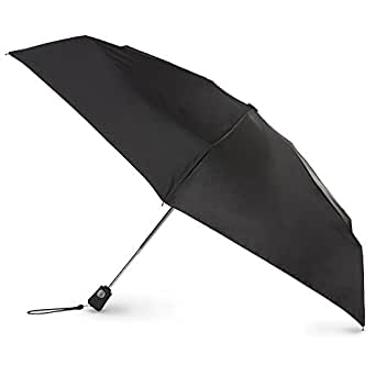 totes Auto Open Close Compact Umbrella,  Black,  One Size