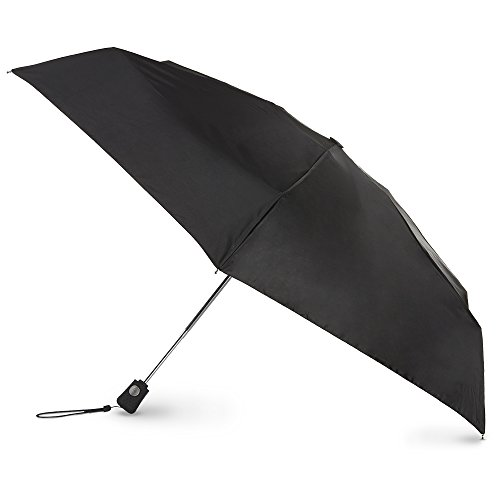totes Close Compact Umbrella Black product image