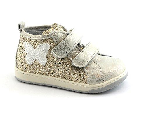 Balocchi Juguetes 486 216 23/25 Mini Zapatos de Niña de Platino Piel rasga Mediados Oro