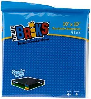 Negro Gris Verde mesas y Mucho m/ás 100 /% compatibles con Todas Las Grandes Marcas 15,2 x 15,2 cm Arena y Blanco para Hacer Torres Strictly Briks Bases cl/ásicas para Construir Azul