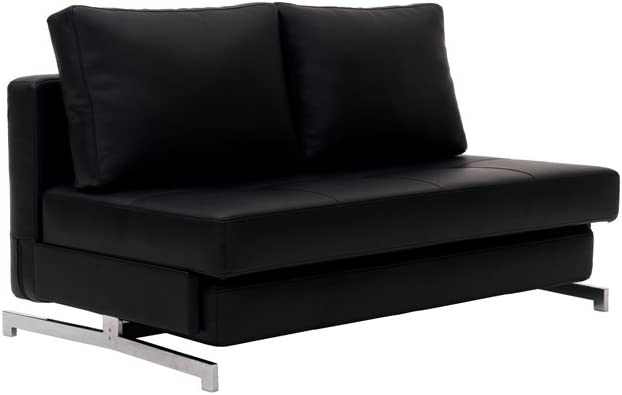J and M Furniture Premium Sofa Bed K43-2 in Black Leatherette,