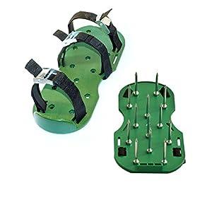 ALEKO AP2143 Lawn Garden Sharp Aerating Spike Shoes, Green Color