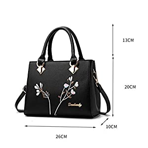 Leathario Women Handbag Leather Shoulder Bag PU Crossbody Bag Fashion Casual Tote Top-Handle Lady Multi-Functional…
