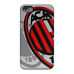 Great Hard Phone Case For Apple Iphone 6 Plus With Allow Personal Design Realistic Ac Milan Logo Series AshleySimms