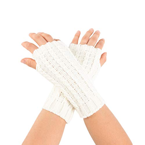 NUWFOR Ladies Sexy Seduction Leather Lace Appeal Gloves?White,21x7cm/8.3x2.8? by NUWFOR (Image #4)