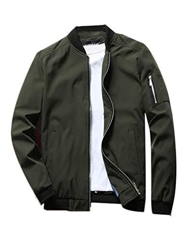 Lavnis Men's Lightweight Softshell Coat Sportwear Zipper Windbreaker Flight Bomber Jacket