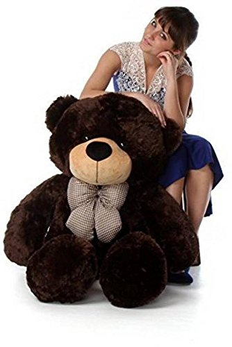 AVS Stuffed Spongy Soft Teddy Bear (Chocolate, 6 Feet)