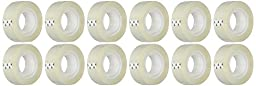 BSN 43575 Transparent Tape, 3/4 by 1000-Inch, Clear, 12-Pack