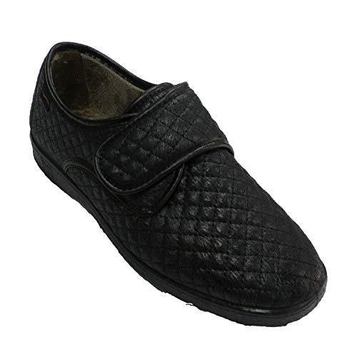 Femme Doctor Noir De Chaussure En Cutillas Type Velcro q7ARtw7