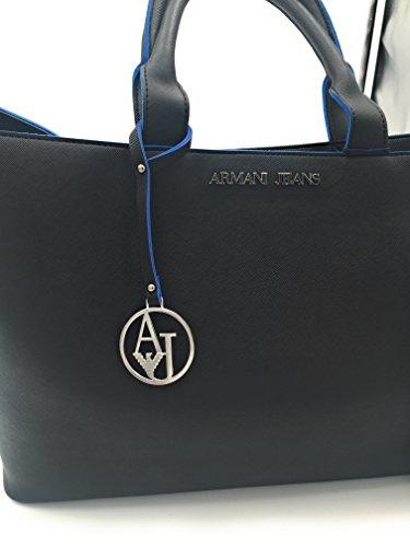 Armani jeans 922532 CC856 Borse a Mano da Donna Nero 40 x 30 x 12 cm