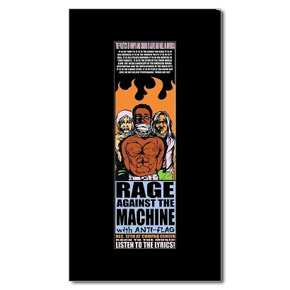 - Music Ad World RAGE AGAINST THE MACHINE - Compaq Center Texas 1999 Mini Poster - 20.4x6.8cm