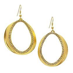 Karine Sultan Chloe Pav?? Statement Earrings In Gold Plated