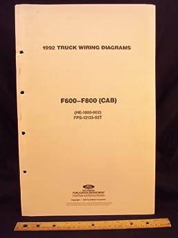 1992 ford f600, f700, \u0026 f800 series cab truck electrical wiring 1985 Ford F700 Wiring-Diagram