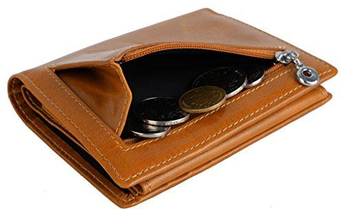 YALUXE Mujer RFID bloqueo de cuero pequeño cartera compacta Billfold con bolsillo de la moneda Brown: Amazon.es: Equipaje