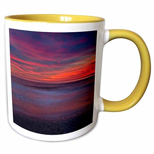 3dRose Danita Delimont - Sunrises - USA, New Jersey, Cape May. Sunrise on ocean shore - US31 BJA0015 - Jaynes Gallery - 11oz Two-Tone Yellow Mug - Jersey New Outlets Shore
