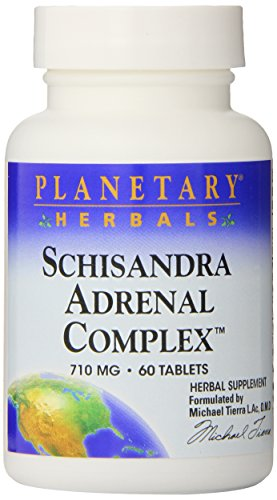 Planetary Herbals Schisandra Adrenal Complex 710mg With Yam Rhizome, Poria Sclerotium & More - 60 Tablets ()
