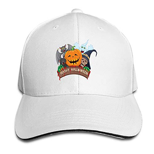 (Fitch Forster Happy-Halloween-Fun Denim Hat Adjustable Mens Casual Baseball)