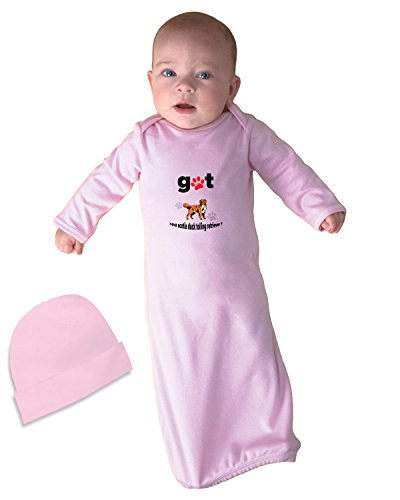 NOVA SCOTIA DUCK TOLLING RETRIEVER DOG Got Baby Rib Layette Sleeping Gown Soft Pink - Fashion Nova Sp