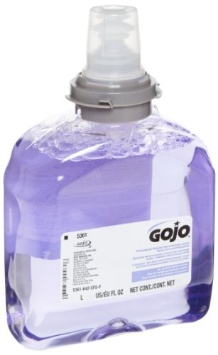 GOJO-536102-TFX-Luxury-Foam-Hand-Wash-Fresh-Scent-Dispenser-1200mL-Case-of-2
