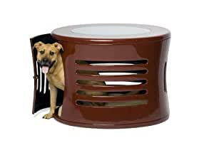 DenHaus ZenHaus Indoor Dog House and End Table, Red, Medium