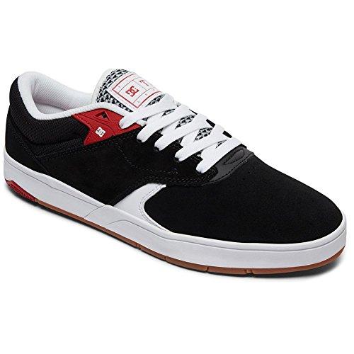 Dc Mens Tiago S Noir Blanc Rouge Chaussures Taille