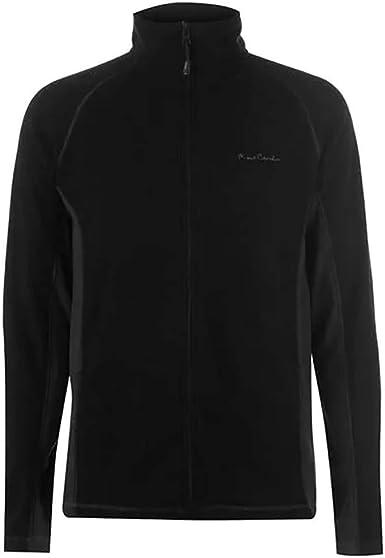 Pierre Cardin Zipped Two Colour Fleece Mens Gents Pullover Jumper High Neck Zip