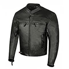 Genuine 1.2mm cowhide thick and heavy ARMOR leather jacket. Contains pre-installed 5PC removable best quality armor. Ventilation zippers on front, back and arms provide excellent airflow. Reflective piping all around for high visibility. Mult...