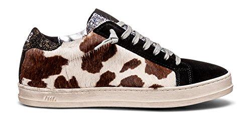 P448 Women's John Italian Leather Brown Hair Calf Sneaker EU 35 / US 4-4.5 (Calf Italian Leather Brown)