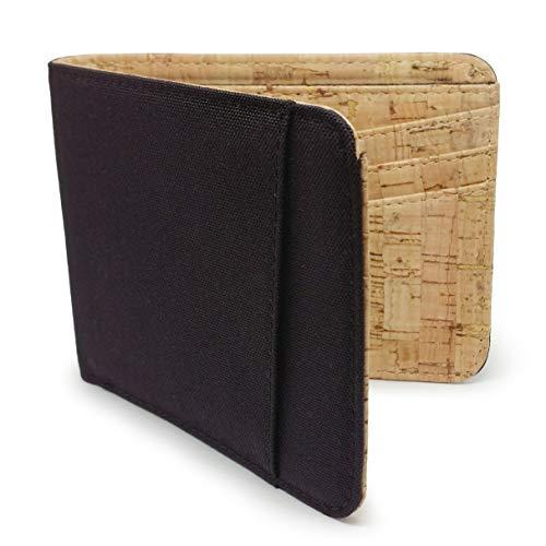 Baldwin Bifold 10 Card RFID Blocking Wallet Water Resistant Cordura Cork Onyx