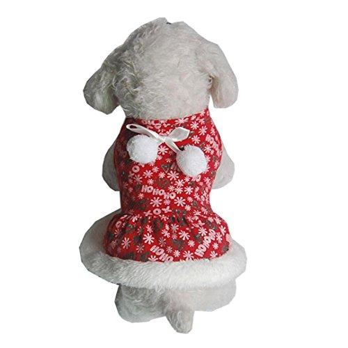 WensLTD Pet Dog Puppy Santa Shirt Christmas Costumes Warm Coat Apparel Sweater (Cheap Dog Costumes)
