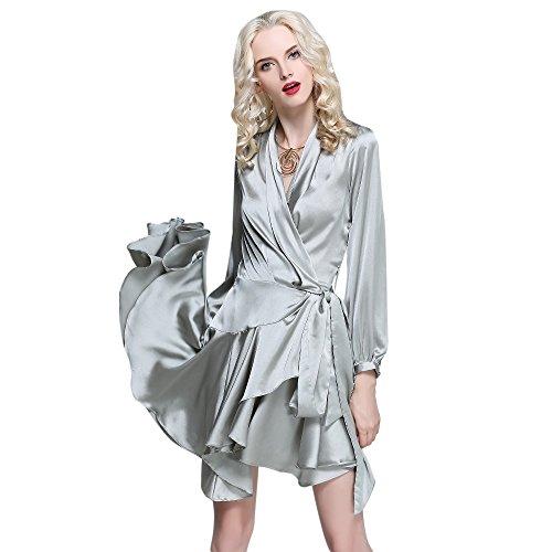 Ruffled Surplice Dress - 6