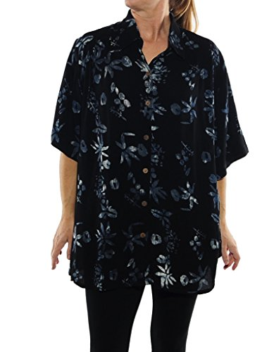 (We Be Bop Womens Plus Size Tiger Lily New Tunic Top 0X, 1X)