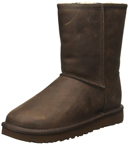 Ugg Stivali Classic Short Leather Brownstone 36