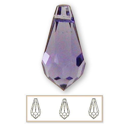 - 12 pcs 15mm Swarovski Crystal 6000 Teardrop Pendant Beads, Tanzanite