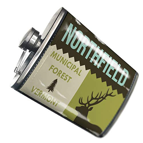 One Northfield Light (NEONBLOND Flask National US Forest Northfield Municipal Forest Hip Flask PU Leather Stainless Steel Wrapped)